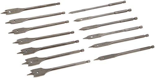 CRAFTSMAN 920919 13 Piece Spade Bit Set with Metal Storage Rack