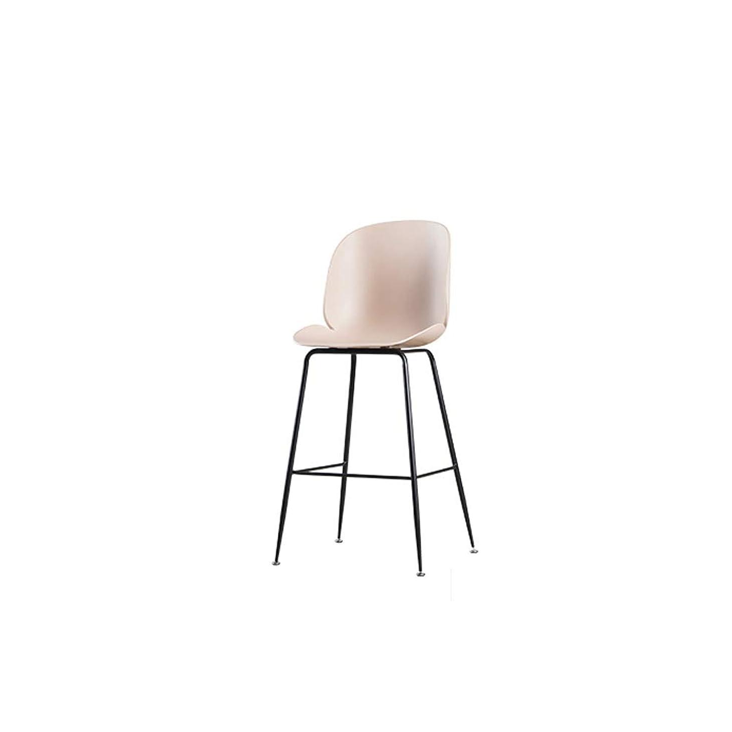権威タービン提唱するXINGPING-Furniture スカンジナビアの鉄の芸術のバーチェア高い足のバースタンドクリエイティブフロントデスクチェアビートルバースタンド現代のシンプルなバーチェア (色 : ピンク)