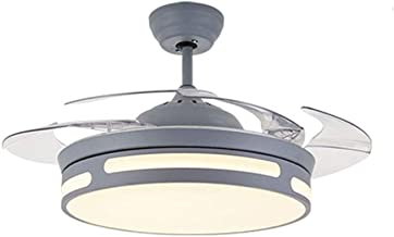 Modern Minimalist Ceiling Lamp with Fan, ABS Invisible Fan Blade *4, Household Silent Led Electric Fan Chandelier
