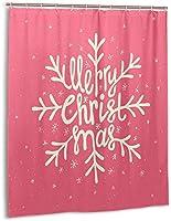 メリークリスマスシャワーカーテン、バスルームポリエステル防水ファブリックバスタブセットバスルームカーテン装飾用フック付き60 X72インチ-プラスチック-66x72インチ