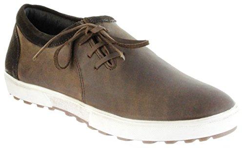 Bergheimer Trachtenschuhe Sneaker braun Leder Herren Schuhe Stainz, Farbe:braun, Größe:43 EU