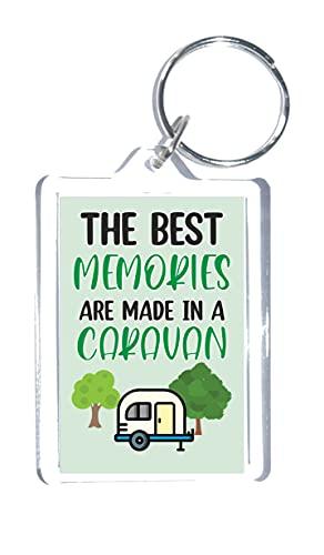 Bonito regalo para caravana – Los mejores recuerdos están hechos en una caravana – Llavero – Novedad regalo