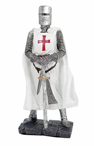 Vogler Kreuzlritter mit Schwert Figur Templer Ritter Templerkreuz Deko Skulptur