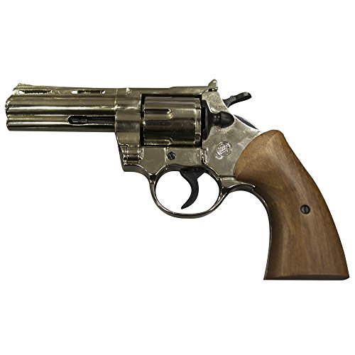 Revólver marrón Magnum de fogueo, inoxidable, calibre 380