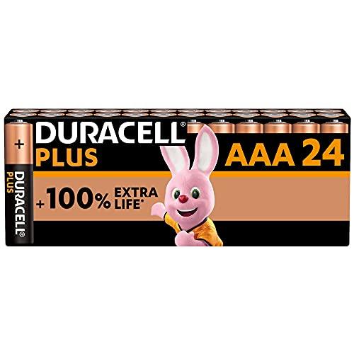 Duracell - NOUVEAU Piles alcalines AAA Plus, 1.5 V LR03 MN2400, paquet de 24