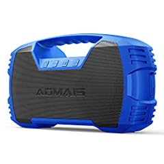 IPX7 Waterproof Speaker: Really waterproof! AOMAIS Go has top level waterproof able to withstand full immersion of up to 33 feet for 30 minutes. Other speakers may claim water resistance but can only defend against the smallest splashes. AOMAIS Go is...