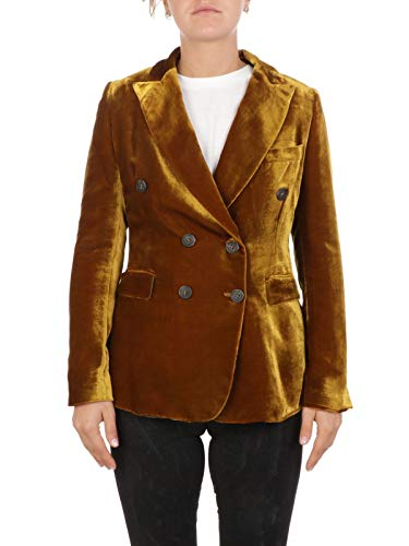 Luxury Fashion | Kiltie Dames KB0268T4149270 Goud Zijde Blazers | Herfst-winter 19