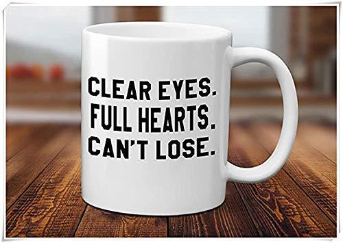 N\A Klare Augen Volles Herz kann Tasse Nicht verlieren - Freitag Nacht Lichter TV-Show Geschenk - Inspirierende Tasse - Fußball Liebhaber Geschenk - Fußball Freitag Tasse, Keramik Kaffee Tasse/Tasse