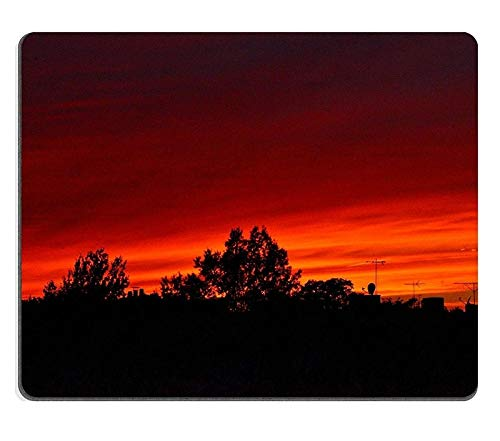 Mouse Pad Gaming Mouse pad Natural Rubber Mouse mat Sunset Out My Rear Window Brooklyn Set of Natural Rubber Material M0A11633