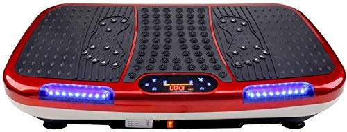Platen Vibration Trainers Vibration Platform Exercise Machine Fitness Massage Machine Geschikt for Oefening (kleur: rood, Maat: 78x45x14cm) ZHANGKANG (Color : Red, Size : 78x45x14cm)