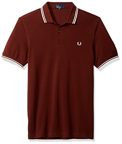 Fred Perry Hombres Doble Punta m3600 Polo Camisa S Rojo(Stadium Red)