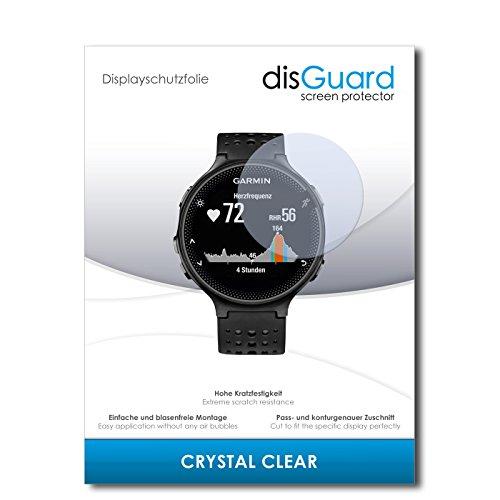 disGuard Displayschutzfolie für Garmin Forerunner 235 [2 Stück] Crystal Clear, Kristall-klar, Unsichtbar, Extrem Kratzfest - Displayschutz, Schutzfolie, Glasfolie, Panzerfolie