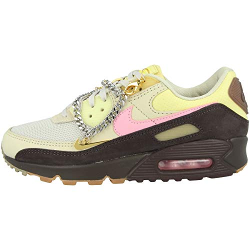 Nike Damen WMNS AIR MAX 90 Laufschuh, Velvet Brown Pink Lt British Tan, 39 EU