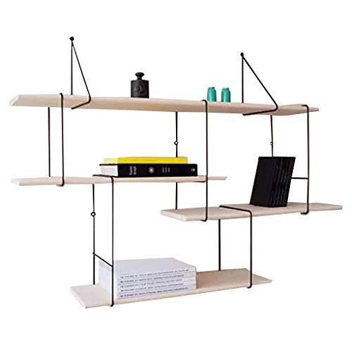 Bibliothèques Nordic minimaliste étagère murale mot créatif partition paroi petite étagère en bois massif étagère de décoration de salle bibliothèque murale