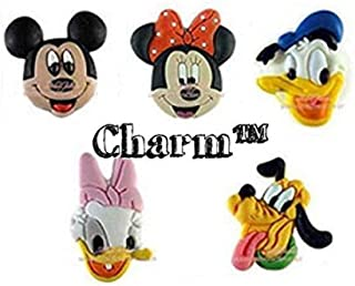 CharmTM Mouse Set of 5 PVC Shoe Charms Crocs Natives Party Favors by