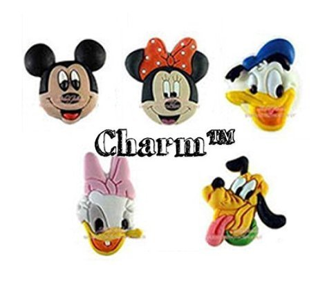 Mouse Set of 5 PVC Shoe Charms for Water Shoes Birthday Party Favors by CharmTM