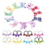 FYHappy Schmetterlings-Haarspangen, bunte Schleifen, Haarbänder, Haar-Accessoires für Frauen und Kinder, hochwertiges Stoffmaterial, bequem, kein Ziehen an den Haaren