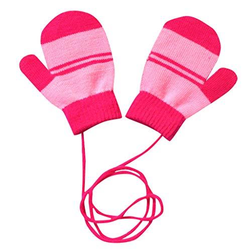 URSING Niedlich Kinder Frühling Winter Handschuhe Fäustlinge Strickhandschuhe Baby Karikatur Fausthandschuh mit Warm Wolle für 1-6 Jahre Kinder Spielen Skifahre