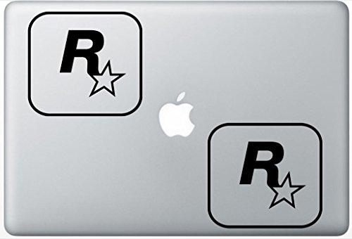 Rockstar Games Logo HenryDecalZD0274 Set Of Two (2x) , Decal , Sticker , Laptop , Ipad , Car , Truck