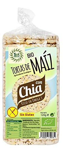 Sol Natural Tortas de Maíz con Chía, sin Gluten Total: 1440 gr