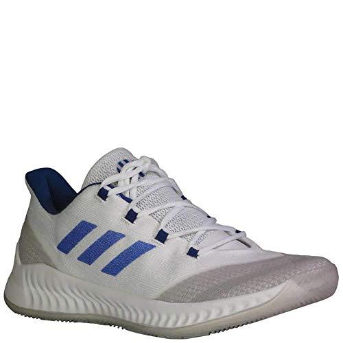 adidas B/E 2 Schuh – Herren Basketball (15, White-Collegiate Royal-Grey)