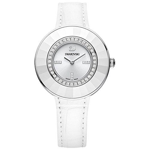 Swarovski Octea Dressy White 5080504 - Reloj de señora Swiss Made, con Correa de Piel Blanca y Cristales Swarovski.