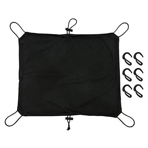 Rubyu 1 Stück Motorrad Gepäcknetz, wasserdichte Abdeckung, Dehnbar Reflektieren Netz Helmnetz, Elastisches Gepäckband, mit Haken, für Fahrrad Motorrad Transport