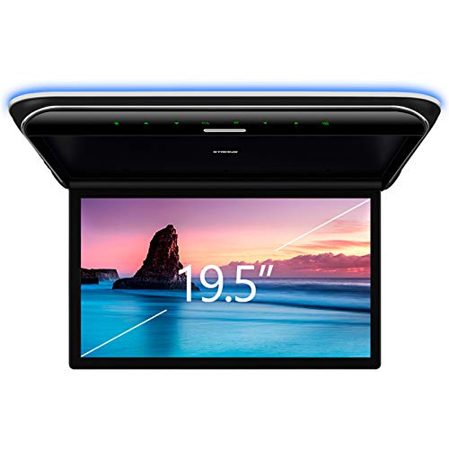 XTRONS 19.5 Inch Car Overhead Player 16:9 Wide Screen 1080P Video Car Roof Mount Monitor Ultra-Thin Flip Down Overhead Car Monitor Supports IR & FM Transmitter, HDMI, USB, AV Input, Stereo Speakers