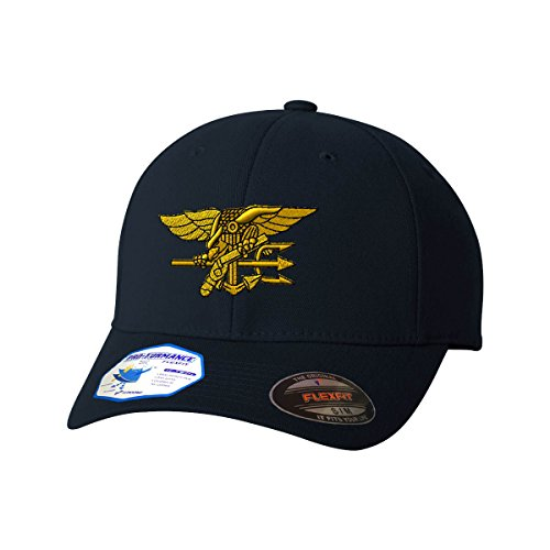 U.S. Navy Seal Flexfit Adult Pro-Formance Branded Hat Dark Navy Large/X-Large