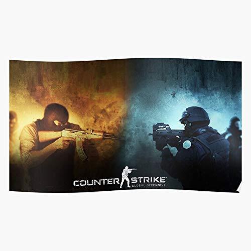 Topgunbikes Steam Source Strike Games Global Counter Offensive Csgo Geschenk für Wohnkultur Wandkunst drucken Poster 11.7 x 16.5 inch