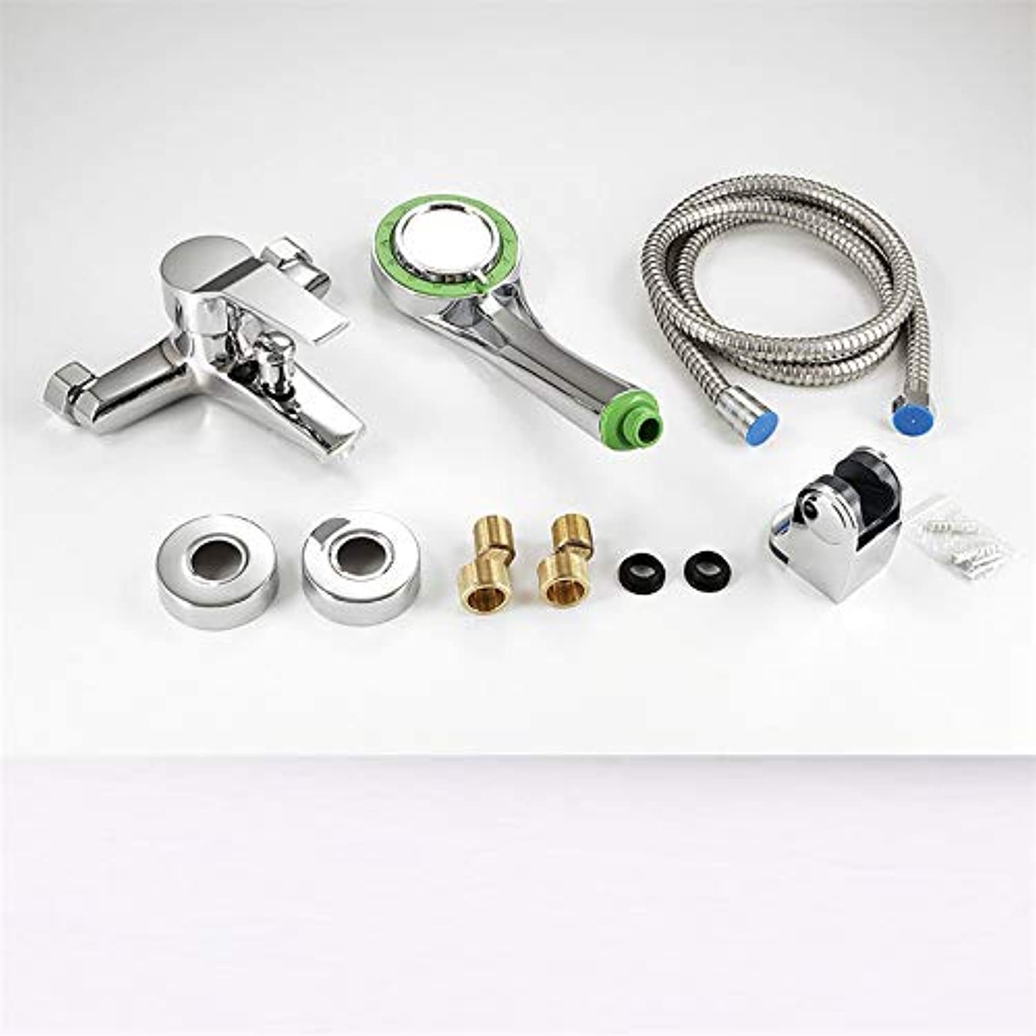 CFHJN HOME Taps Copper Shower Faucet Hot And Cold Mixing Valve Bathtub Faucet + Shower Set B
