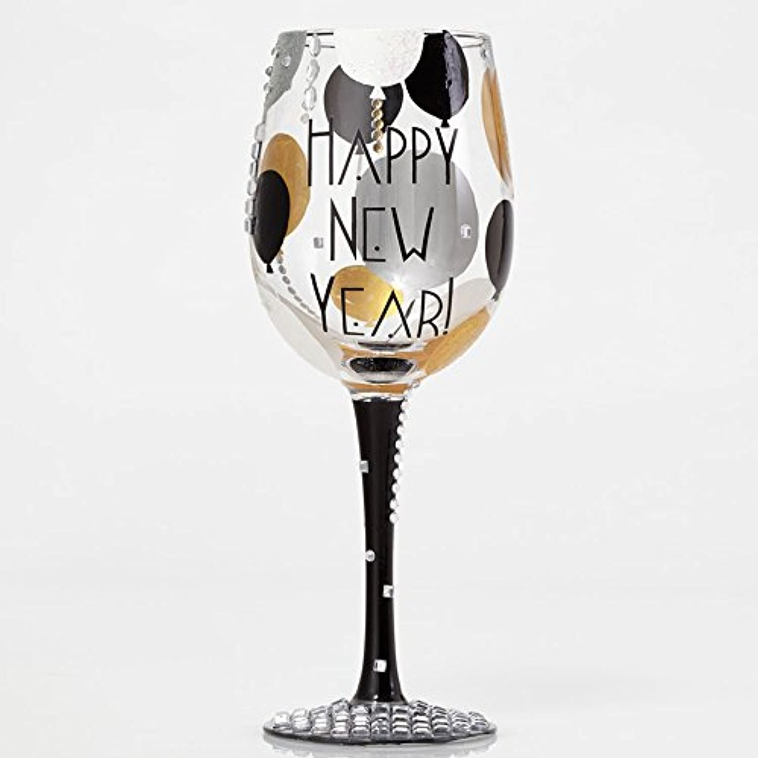 Enesco Blinging New Year Wine Glass by Lolita, 10.5