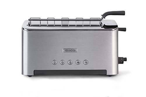 Tostadora pan Kenwood TTM610-1 Ranura Larga Ajustable hasta 2 Tostadas, Color Plata