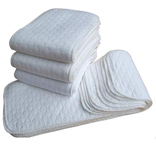 CNluca Produtos para bebês Fraldas absorventes de algodão algodão para recém-nascidos Algodão para bebês Fraldas de algodão macio ecológicas seguras brancas