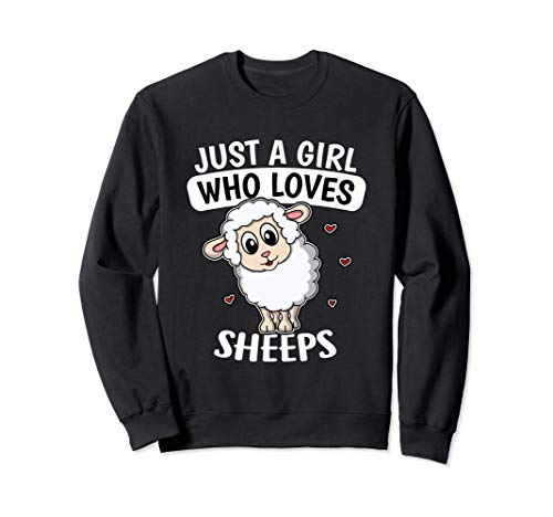 Just A Girl Who Loves Sheeps Pastor Disfraz De Oveja Sudadera