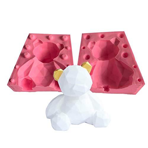 3D Silikonform Fondant Kuchenform Geometrische Bärenförmige Form Antihaft-Fondant-Kuchenformen Backwerkzeuge Für Die Dekoration Von Pralinen - 11 × 8,8 × 10,5 Cm
