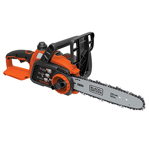 Black and Decker LCS1020R 20V MAX 2.0 Ah Cordless Lithium-Ion 10 in. Chainsaw (Renewed)