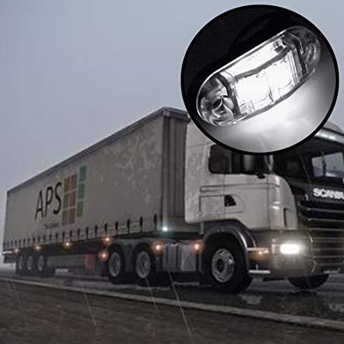 In de auto buitenverlichting ruimte licht 2 stuks DC 10-30V Car Truck Trailer Piranha 3-LED zijmarkeringsverlichting verlichting, lichtkleur: Wit Opruiming Light