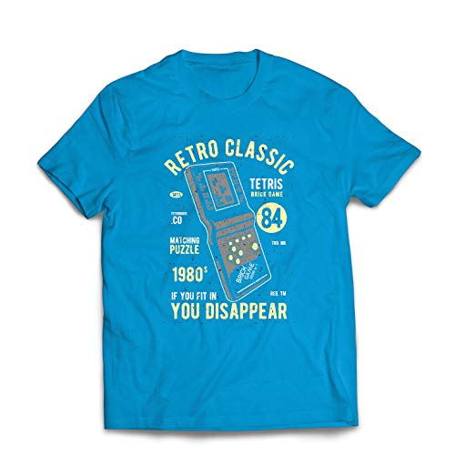lepni.me Heren T-Shirt Retro Classic Video Gaming '80s Tetris stenen spel