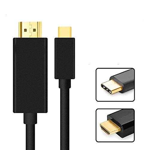 REALMAX (2M) USB C To HDMI Cable Type C 4K@60Hz Thunderbolt 3 Compatible With Apple iPad Pro, MacBook Air 2018/2017/2016 MacBook Pro, iMac Samsung Galaxy S9/S8/Tab S4, Note 9/S9/8/S8, Huawei Mate 20