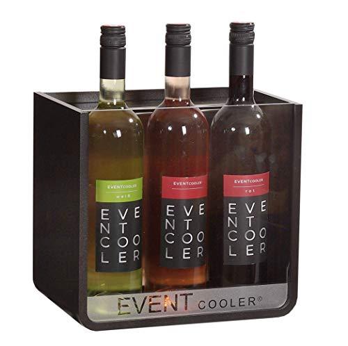 EVENT COOLER VARIO 03, stromloser Weinkühler, Flaschenkühler - schwarz