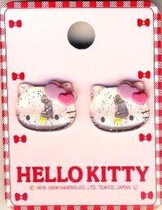 キャラクター ボタン キティ (型抜き) 透明 (ハローキティ キティちゃん サンリオ)