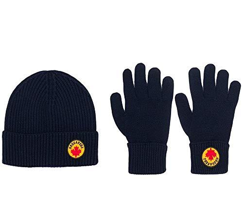 DSQUARED2 set muts en handschoenen voor heren met Canada, logo, beanie en handschoenen, set