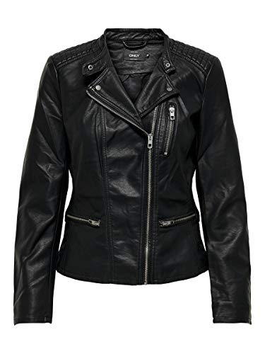 ONLY Female Jacke Lederlook- 42Black