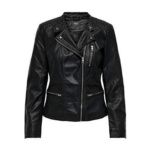 Only Onlfreya Faux Leather Biker Otw Noos Abrigo de Vestir para Mujer a buen precio