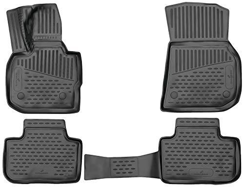 Walser XTR Gummifußmatten kompatibel mit BMW X3 (G01) Baujahr 2017 - Heute, passgenaue Auto Gummimatten, Autofußmatten Gummi