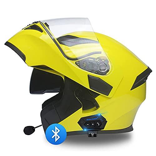 BDTOT Casco de Moto Modular Bluetooth Integrado Casco Anticolisión Unisex para Adultos...