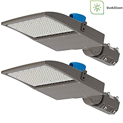 Sunco Lighting 2 Pack LED Shoebox Parking Lot Pole Light, 200W, Dusk to Dawn Photocell, 600W HID Replacement, 5000K Daylight, 28000 LM, Dimmable 1-10V, IP65 Waterproof, Outdoor Area Lighting - UL, DLC