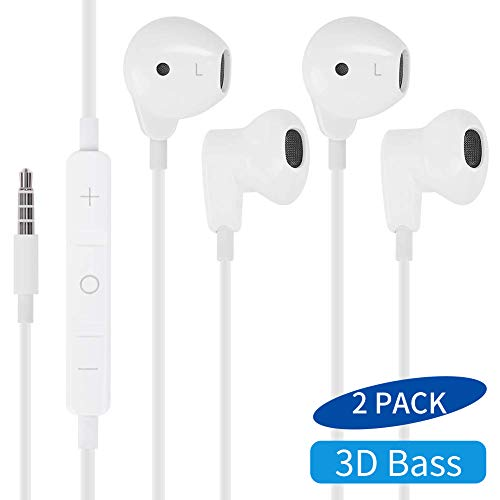 MASOMRUN Wired Earphones Stereo Sound in-Ear Earbuds with 3.5mm Headphones...