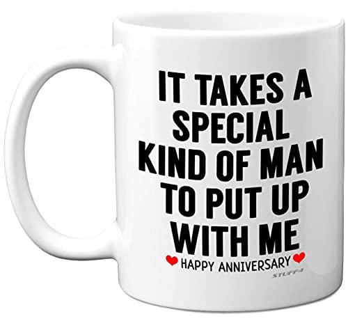 Stuff4 Anniversary Mug for Him, Funny Quote Coffee Mug for Men Gifts, 11oz Ceramic Mugs Dishwasher...